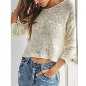 🟢2/$30 Forever 21 Ribbed Open Knit Sweater